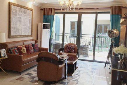 重庆96㎡中式风格三居室装修效果图