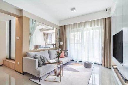 重庆76㎡现代简约三居室装修效果图