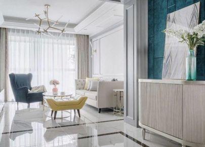 重庆104㎡现代简约三居室装修效果图