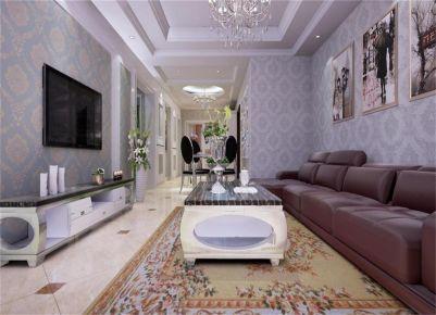 西安兩居室歐式風格裝修效果圖