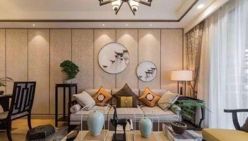 重庆90㎡新中式风格三居室装修效果图