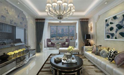 西安三居室美式风格装修效果图