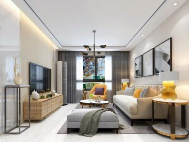 昆明现代风格三居室装修效果图