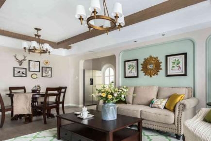 寧波歐式風格三居室裝修效果圖