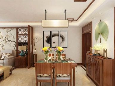 昆明中式風格三居室裝修效果圖