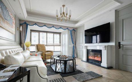 重庆110㎡风式风格三居室装修效果图