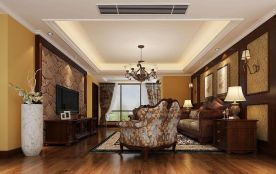 漳州美式风格三居室装修效果图