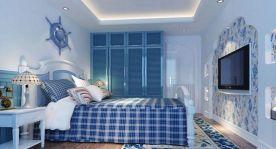 漳州地中海风格三居室装修效果图