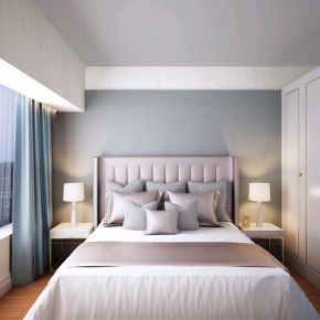 昆明美式风格三居室装修效果图