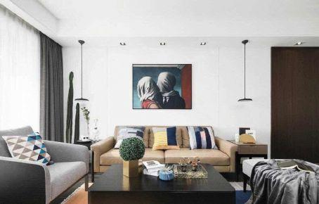 重庆105㎡现代简约三居室装修效果图