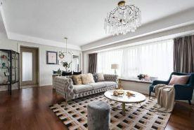 郑州新美式风格两居室装修效果图