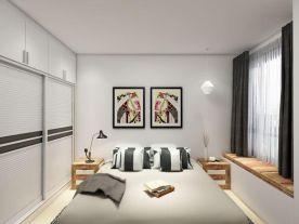 郑州日式风格三居室装修效果图