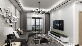 惠州简约风格三居室装修效果图