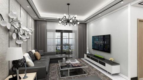 惠州簡約風格三居室裝修效果圖