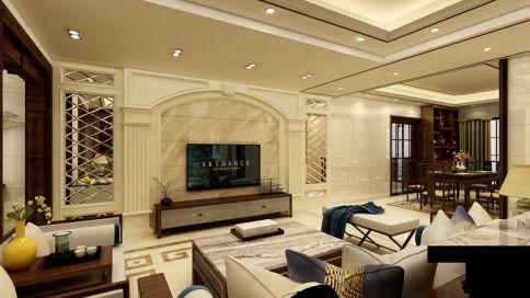 惠州中式风格三居室装修效果图