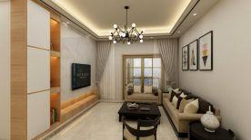 惠州简约风格两居室装修效果图