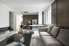 重庆100㎡现代简约三居室装修效果图