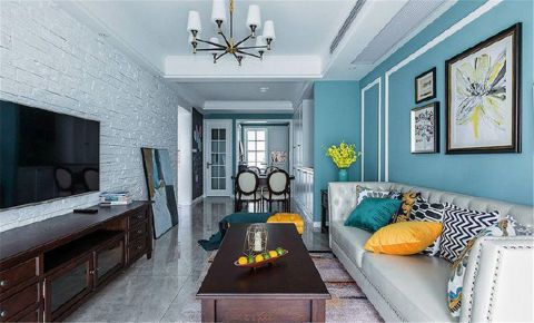 重庆80㎡美式风格两居室装修效果图