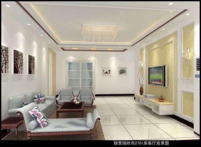 佛山歐式風格三居室裝修效果圖