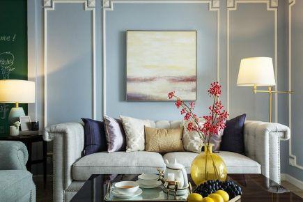 六安美式風格三居室裝修效果圖