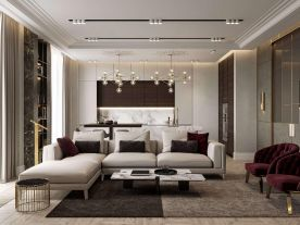 重慶99㎡簡歐風格三居室裝修效果