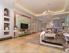 佛山中式風格三居室裝修效果圖