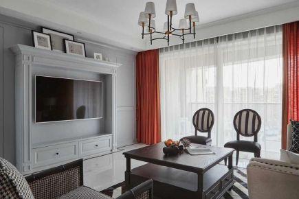重慶美式風格三居室裝修效果圖