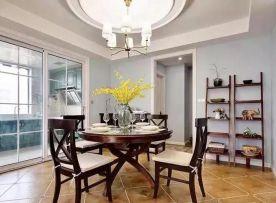 成都现代美式风格三居室装修效果图