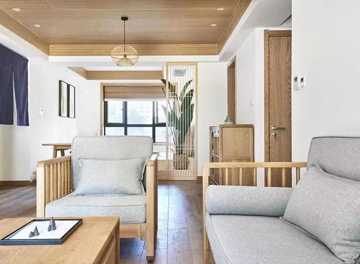 成都日式風格三居室裝修效果圖