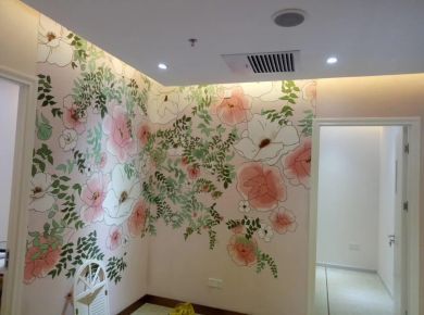 深圳简约风格二居户型装修效果图