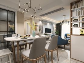 绍?#21496;?#24742;府小区现代简约二居室装修案例