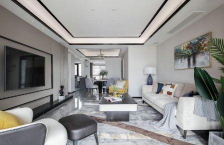 六安中央公園現代風格三居室裝修設計效果圖