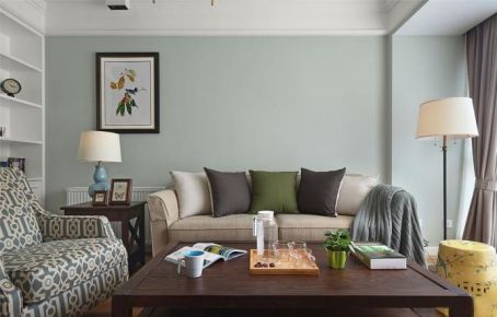 重庆115㎡浪漫美式三居室装修效果图,满足你的复古情结