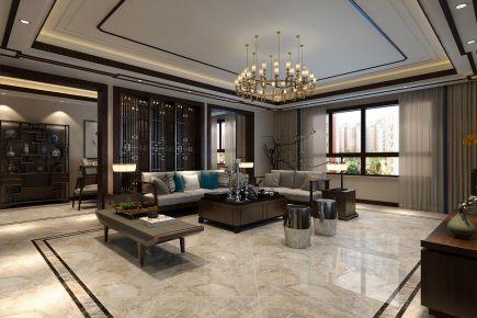 哈尔滨外?#24425;?#24220;150平新中式三居室装修案例