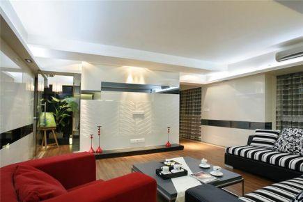 重慶120㎡現代簡約風三居室裝修效果圖