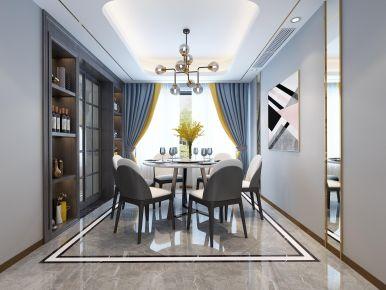 杭州金色钱塘简约风格三居室装修效果图