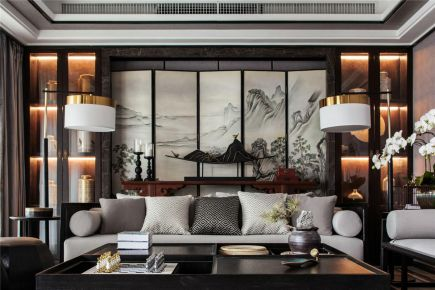 珠海中式风格四居室装修效果图