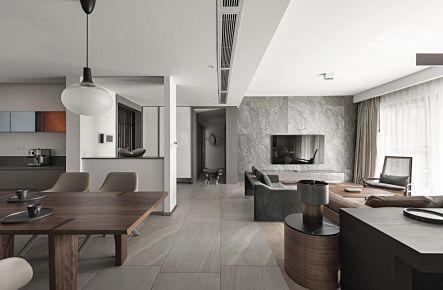 珠海現代風格三居室裝修效果圖