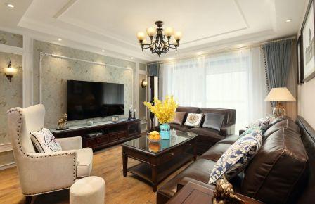 珠海美式风格三居室装修效果图