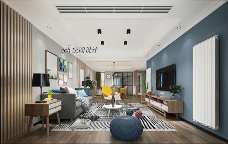南京160平复式简约风格装修效果图