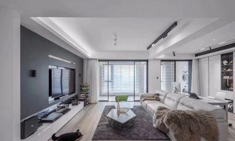 海口現代風格三居室裝修效果圖