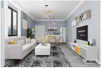 湘潭简约风格两居室装修效果图
