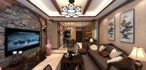 遵义中式风格四居室装修效果图