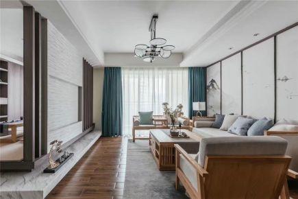 常州中式风格三居室装修效果图