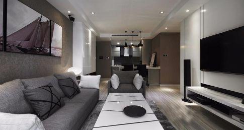 福州現代風格三居室裝修效果圖