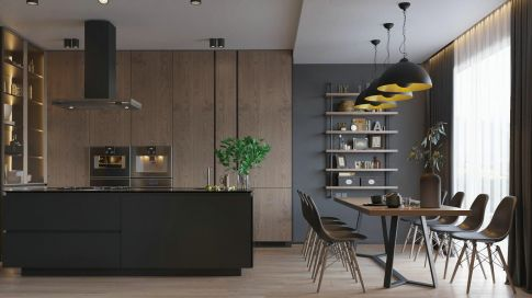 福州现代风格三居室装修效果图
