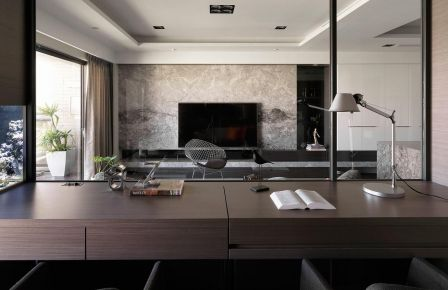 福州后现代风格三居室装饰效果图