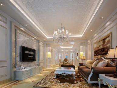 厦门欧式风格三室两厅装修效果图