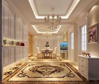 厦门欧式风格四居室装修效果图