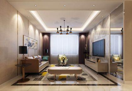大连聚美东湾现代风三居室装修,满满的格调感!